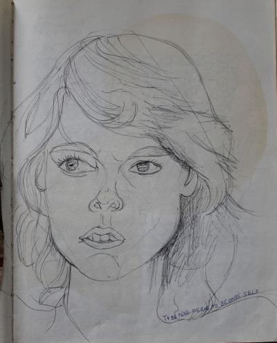 Yvonne, a drawing