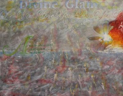 "Divine Glam Coming Down, Going Up Oil on Canvas 16 x 20"" $499.99"