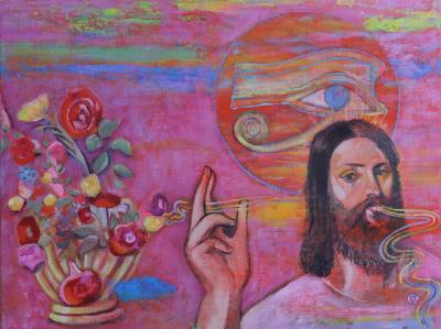 jesus-processing-nature-continuum-oil-on-canvas