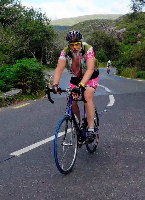 Art van Leeuwen - cork based top web designer and web developer frequently is found out on his bike all over Ireland