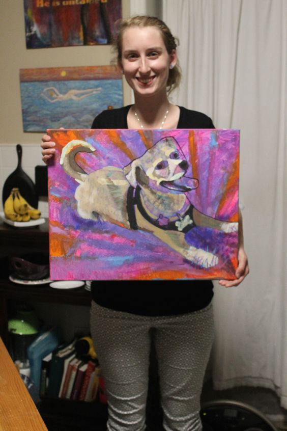 Gabby and Meg the dog painted so beautifully, do you agree?